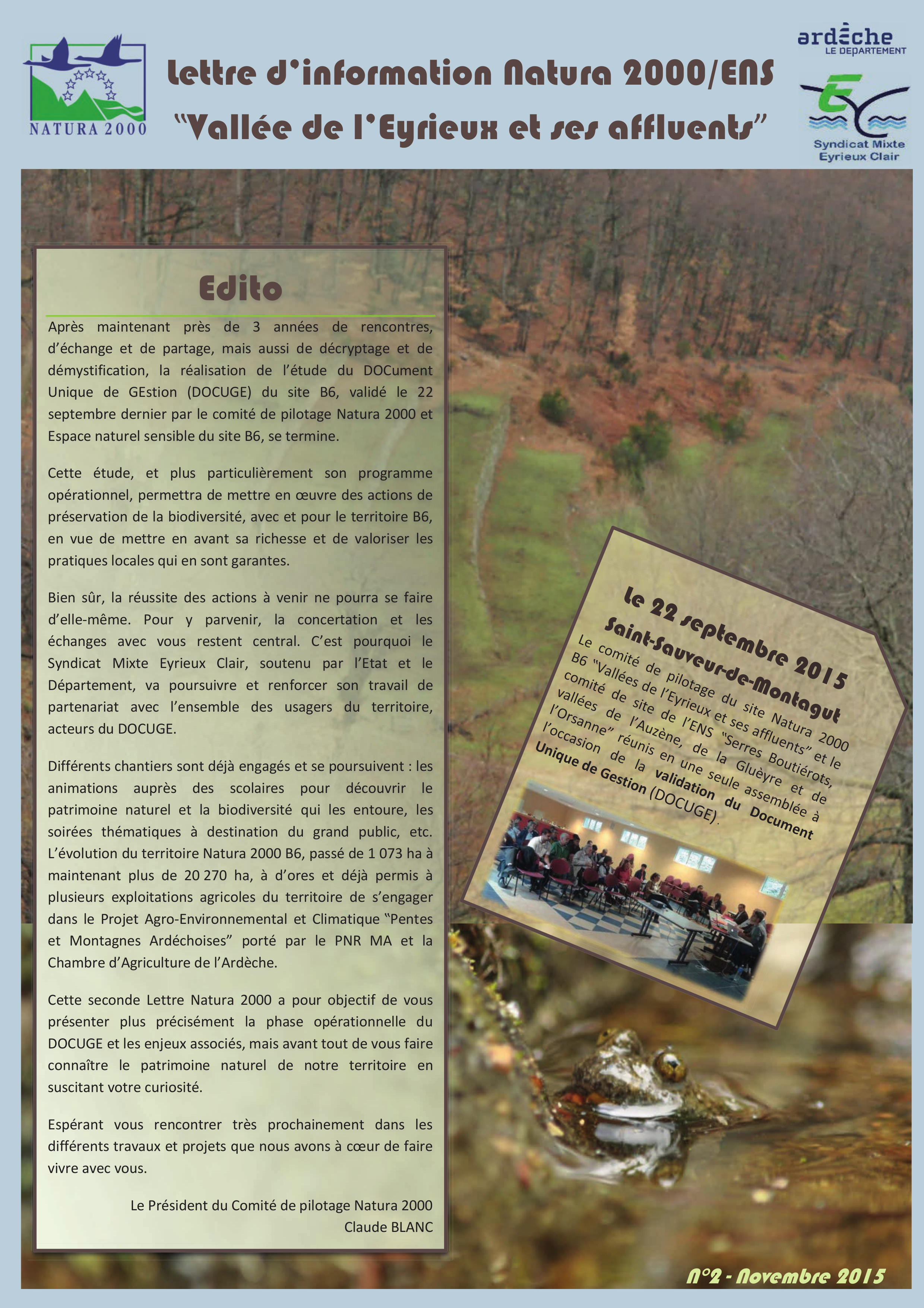 Lettre Natura 2000 n°2